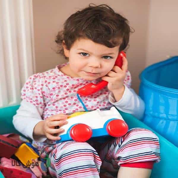 تلفن اسباب بازی برای به حرف آوردن کودک