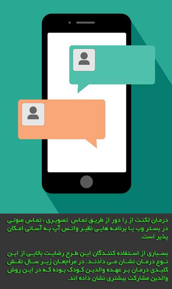 گفتاردرمانی آنلاین لکنت زبان در کودکان